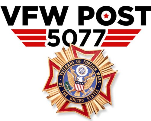 VFW Post 5077 logo and badge